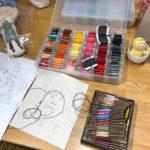 お絵かき刺繍教室1